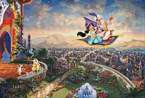 Aladdin AA B//W Cross Stitch Chart BUY 1 GET 1 HALF PRICE