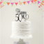Range of Colours Acrylic Cake Topper 50th Birthday Happy 50th -Script Font