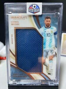 2020 Panini Immaculate Soccer LIONEL MESSI Standard JUMBO Patch BRONZE 8/50
