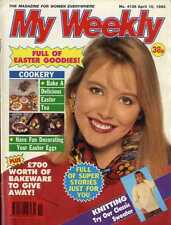 MY WEEKLY MAGAZINE 10/4/1993 DECORATING EASTER EGGS, COOKERY CAKES, KNITTING