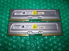 SALE: 512MB Fast KINGSTON PC1066 RIMM RAMBUS RDRAM (2x 256MB)