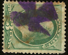 Large US Banknote Stamp w/ Very Bold & Nearly-SON CROSS Fancy Cancel....15n