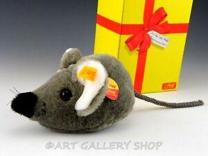 Steiff-EAN-093333-TEDDY-BEAR-COSY-FIEP-GREY-MOUSE-ANIMAL-Unused-with-Box