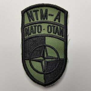 NATO OTAN TRAINING MISSION AFGHANISTAN KLETT PATCH BW ARMY MILITARY