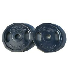 25lb Pair Color Rubber Bumper Olympic Weight Plates SRC