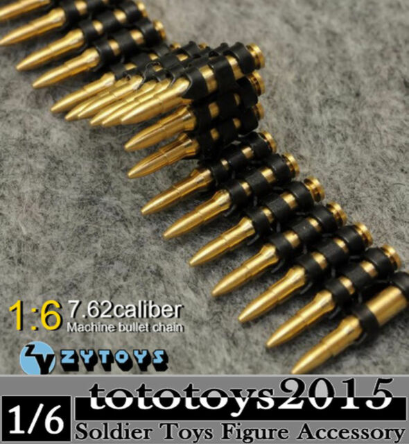 1//6th WWII MG42//34 DML 7.62 caliber 50PC Bullet Guns Bullet Chains Machine Model