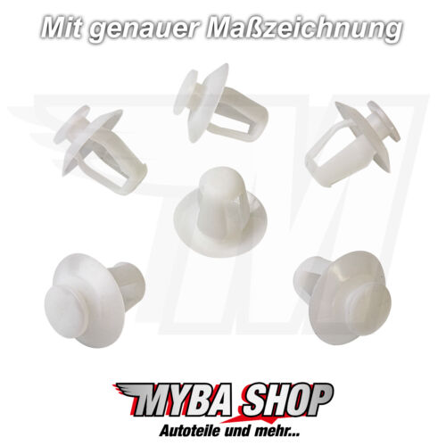 10x Befestigungsclips Seitenschutzleisten Halterung für Peuget Citroen856535