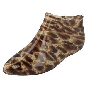 Mujer-Leopardo-de-impresion-Tobillo-Botas-De-Agua