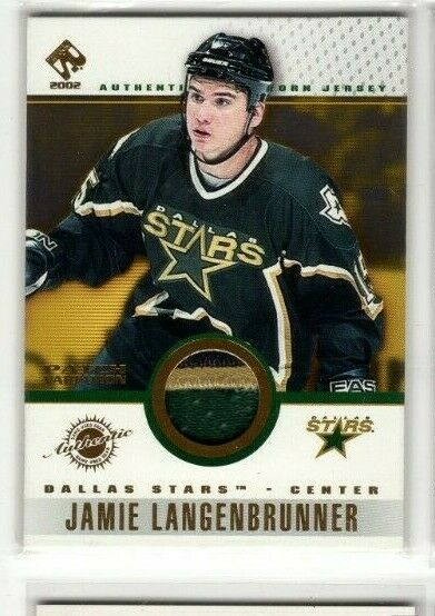 2001-02 PRIVATE STOCK PATCH JAMIE LANGENBRUNNER #36
