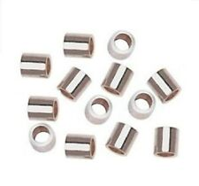 2 X 1 MM STERLING SILVER CRIMP BEADS  Pkg. Of 10 (Genuine .925 Silver) 1111S