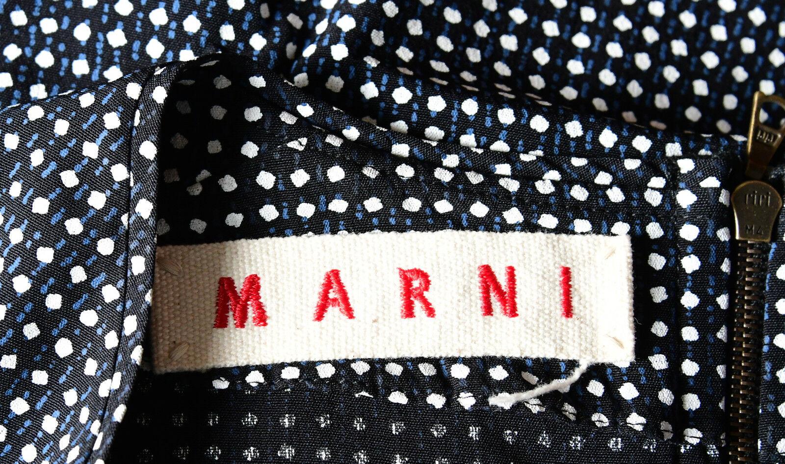 MARNI KLEID Gr DE 34 IT 40 ETUIKLEID DRESS DRESS DRESS DAMEN SCHWARZ WEISS BLAU 100% VISKOSE 289015