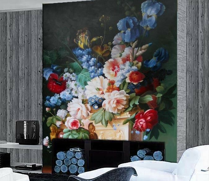 3D Flower Painting 82 Wallpaper Mural Paper Wall Print Wallpaper Murals UK Lemon