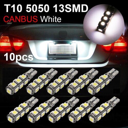 10PC White T10 13SMD LED Interior Dome License Plate Landscape Light Bulbs 12VDC
