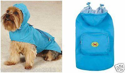 Zack & Zoey Flutter Bugs Stowaway Dog Puppy Raincoat Jacket XXS SIZE