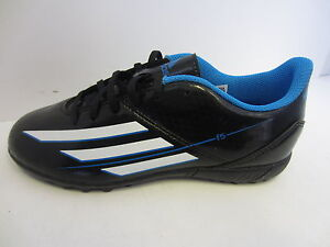 Details about Boys Black/Blue Adidas Lace Up Football Trainers UK Sizes 13.5 - 5.5 F5 TRX TF
