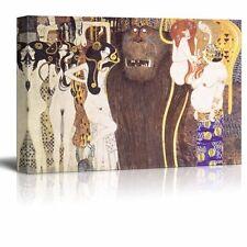 "Beethoven Frieze - The Hostile Forces by Gustav Klimt - Canvas Print - 32"" x 48"""