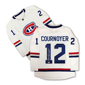 Yvan Cournoyer Autographed White Montreal Canadiens Jersey