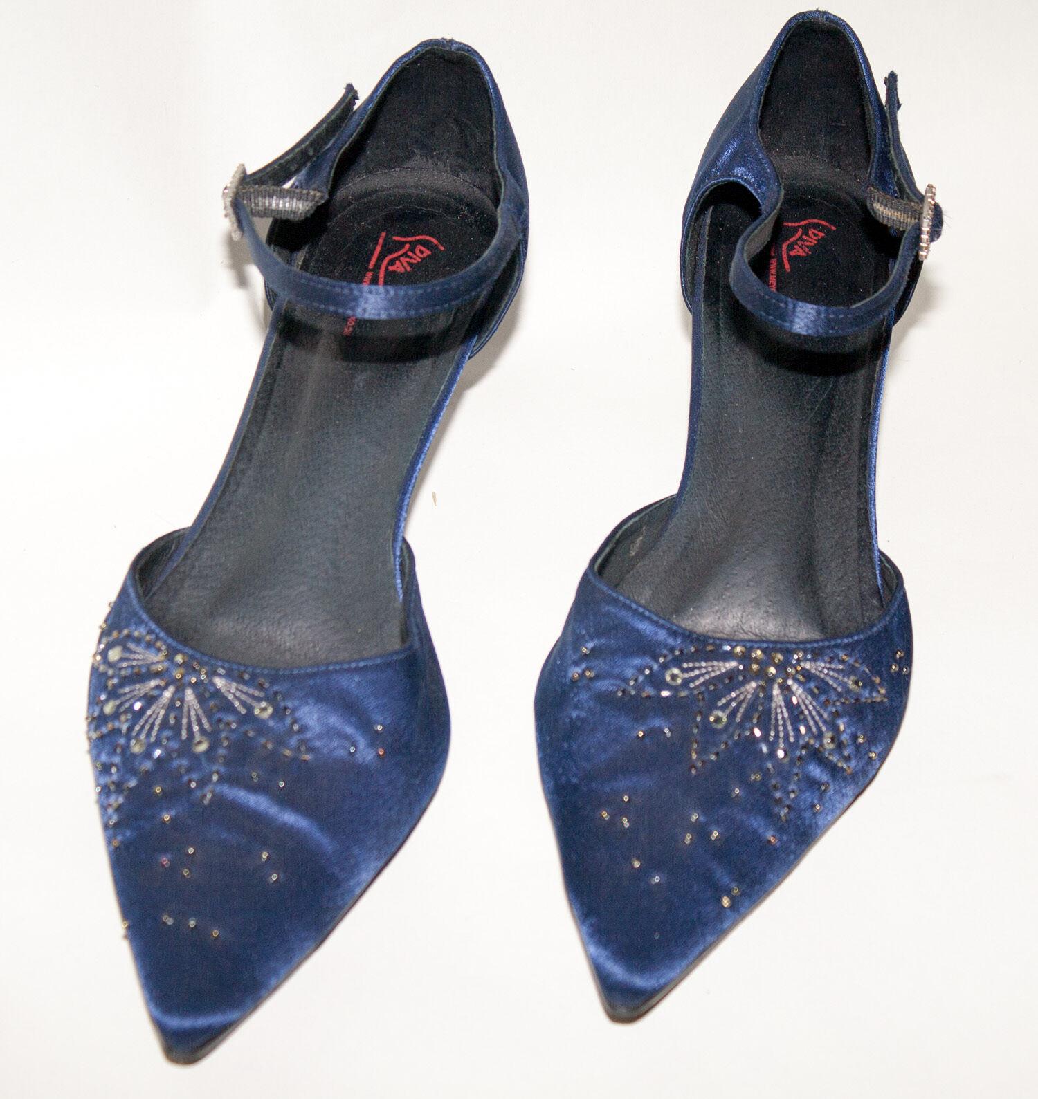 DIVA ♥ Pumps ♥ Schuhe ♥ Gr. ♥ 42 ♥ TOPst  ♥ Gr. Satin bestickt ♥ Pfennigabsatz ♥ ede 3e3e4d