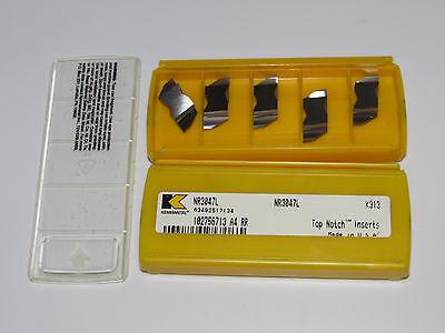 10 new KENNAMETAL NR 3047L KC313 Top Notch Carbide Inserts USA NR3047L