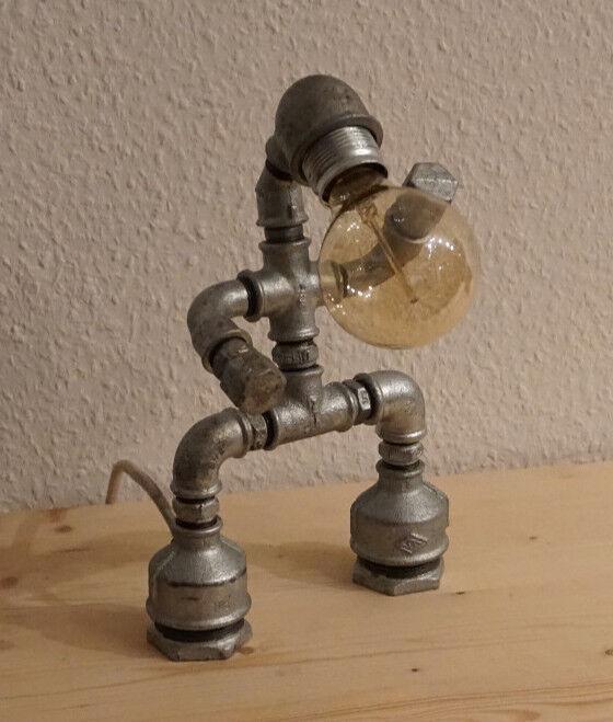 Industrial Vintage Retro SteamPunk Wasserrohr Lampe Robot