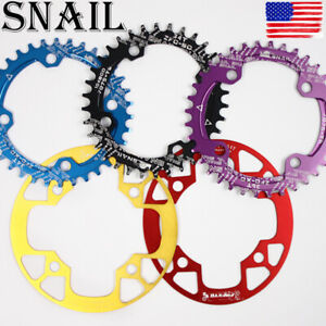 SNAIL-32-42t-BCD104mm-Round-Oval-MTB-Road-Bike-Single-Crankset-Chainring-Guard