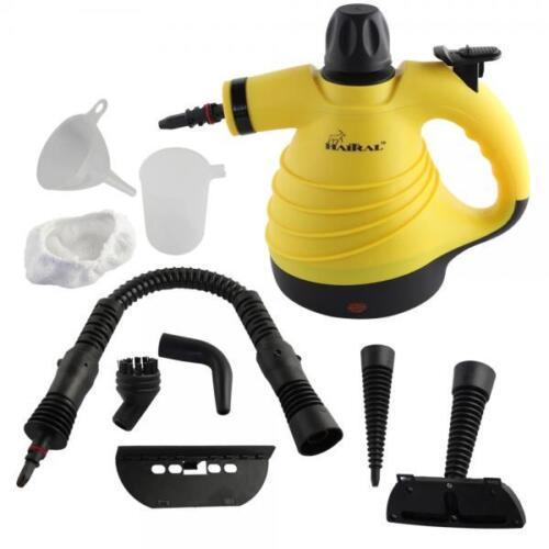 HT-STEAM-CLEANER Multi-Purpose Pressurized Handheld Steam Cleaner Yellow