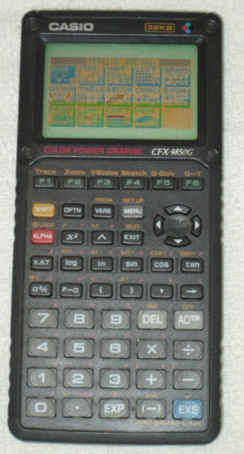 Casio CFX-9850G 32KB Color Power Graphic Calculator Pre-owned Tested