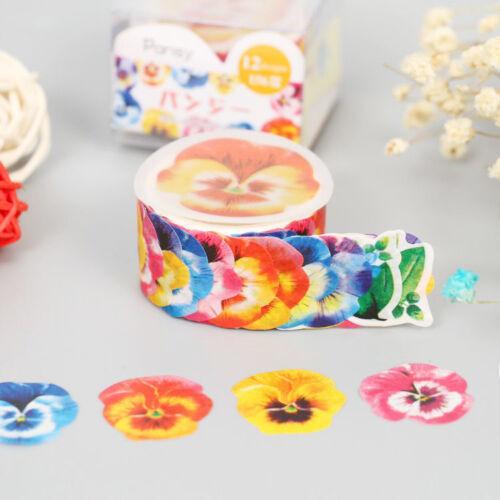 Pastel Flowers Petal Washi tape Scrapbook Dairy Sakura Petal Deco Stickers DO
