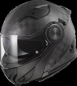 Ls2-Ff313-Vortex-avant-Basculable-Casque-Moto-Mat-Fibre-de-Carbone-Moto-Choc
