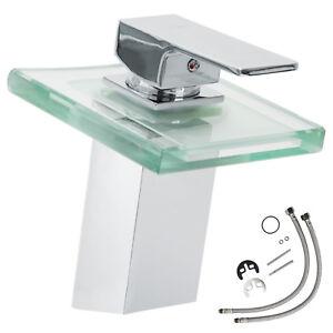 LED Robinet mitigeur lavabo cascade évier salle de bain faucet ... 80735a4dfa88