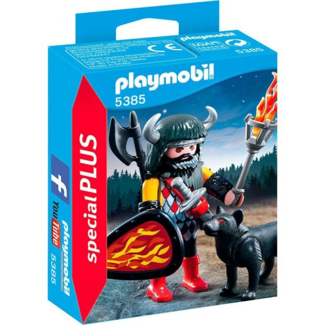 BOITE NEUVE Playmobil 5385 - Special Plus Wolf Warrior. LE CHEVALIER AUX LOUPS