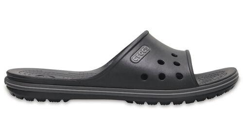 014b36691315d8 Crocs Unisex Crocband II Slide Sandals Black   Graphite M12 M10w11 ...