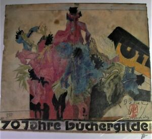 Horst JANSSEN (1929-1995) - 70 Jahre Büchergilde Basel 1982 - signiert