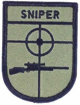 Toppe Toppa PATCH MILITARE MILITARI SNIPER  AIRSOFT SOFTAIR SOFT AIR