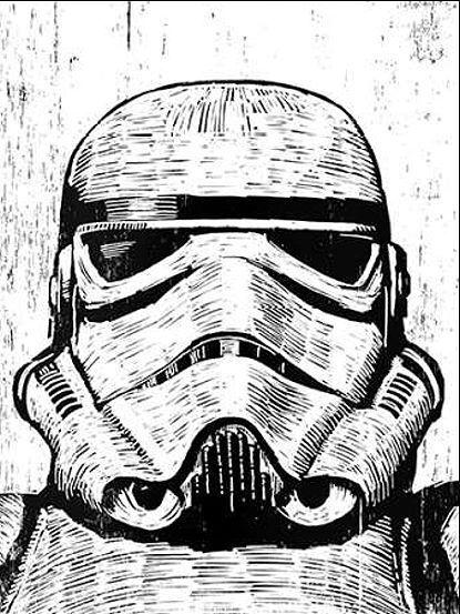 Neil Shigley  Stormtrooper telaio-Immagine Tela Stars FILM MUSICA culto