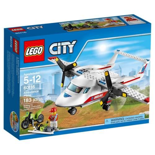 60116 AMBULANCE PLANE lego city town SEALED police NEW EMS airplane legos set