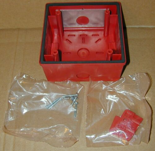 2 Cooper Wheelock 10B-R Indoor Outdoor Back Box Red Fire Speaker Outlet 105046