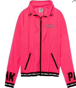 lynlås Rød Pink Sort Secret Letvægts Neon Victoria's Fuld Anorak Fq16cav