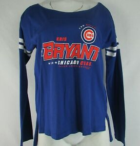 release date: 4ef86 a4301 Details about Chicago Cubs Womens Touch By Alyssa Milano Long Sleeve Kris  Bryant T-Shirt MLB M