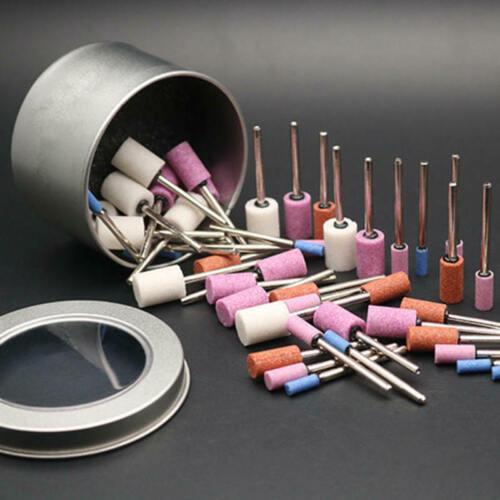 30pcs 3mm Ceramic Stone Polishing Grinding Rotary Die Grinder Drill Bit Tool ja