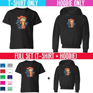 Popular Youtuber Funny MooseCraft Kids T Shirt Hoodie Set Boy Girl Gaming Vlog