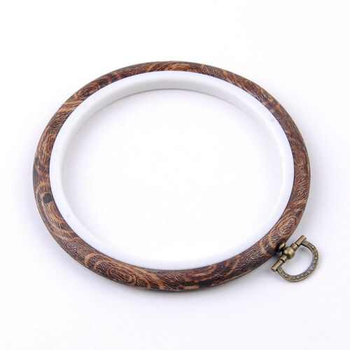 Wood Plastic Frame Embroidery Hoop  Ring Round Loop  Crafts For Cross Stitch