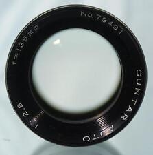 Nice SUNTAR AUTO 135mm f1:2.8 Telephoto Portrait Lens M42 Screw Mount