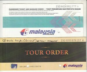 MALAYSIA-AIRLINES-LOT-OF-2-PASSENGER-TICKET-AND-BAGGAGE-CHECK