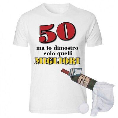 T Shirt In Bottiglia Compleanno 50 Anni Spiritosa E Divertente Idearegalo Ebay