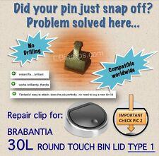 Repair/fix bin lid clip striker 30L Brabantia touch bin trash can no drill-type1