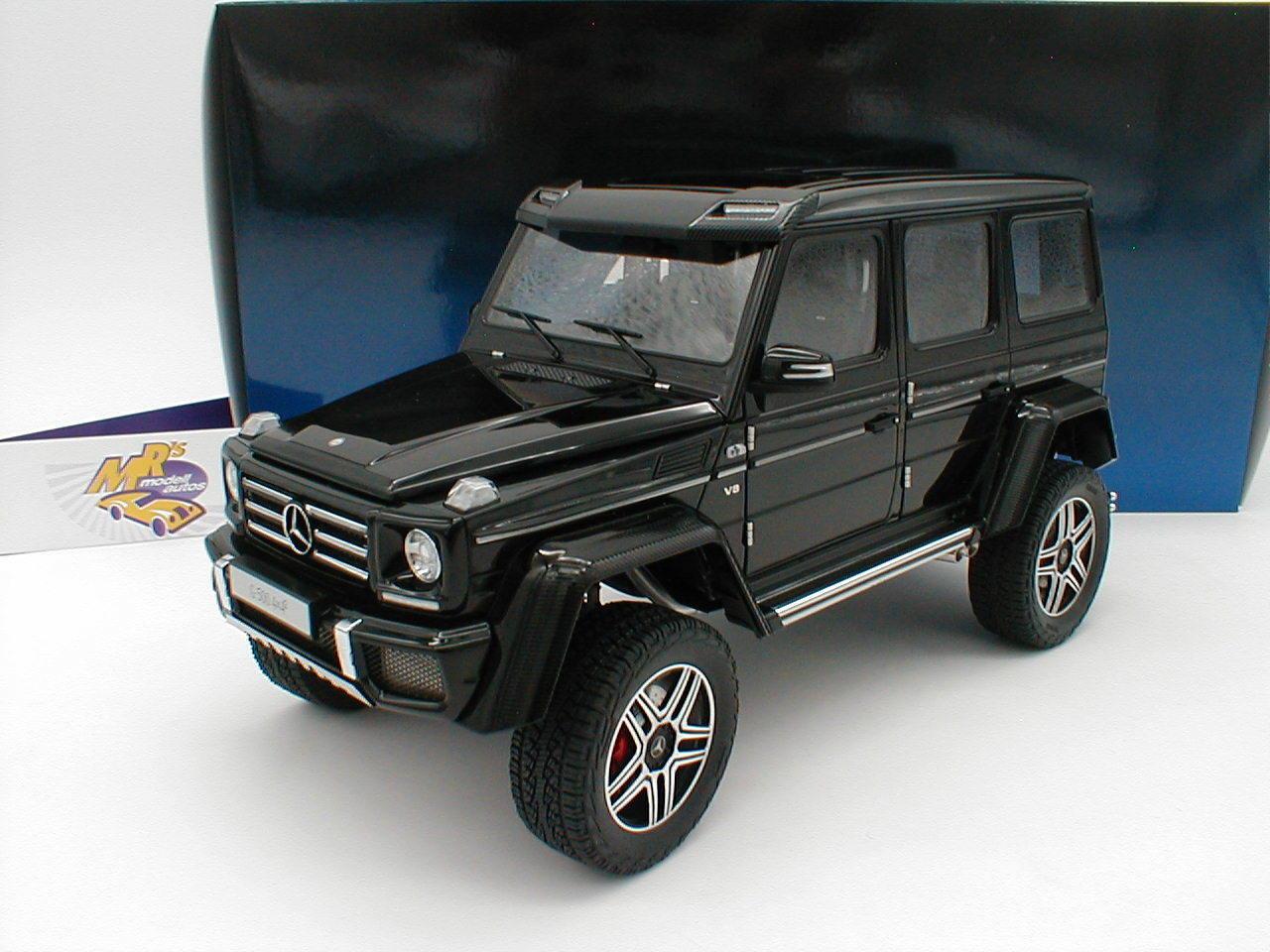AUTOart 76317 - Mercedes-Benz G500 4x4² Baujahr 2015   schwarz   1 18  NEU    Schön