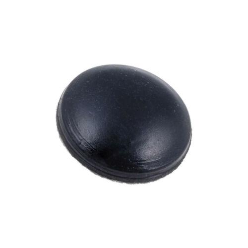 20X RF8-2A Selbstklebender Fuß schwarz Gummi A 8mm B 2mm C 1mm FIX/&FASTEN