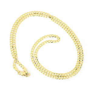 375-Solid-9ct-Yellow-Gold-Diamond-Cut-Heavy-Curb-2-4mm-Link-Chain-16-034-18-034-20-034