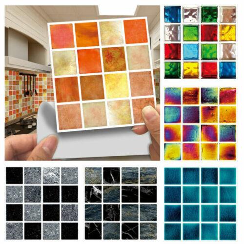 Details about  /30X autoadhesivo cocina baño mosaico azulejo etiqueta de la pared